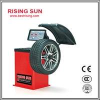 Semi automatic used wheel balancing equipment for garage