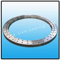 Single row four point contact ball slewing bearing with external gear for slewing conveyer