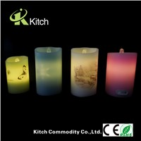 Wholesale led water  fountain flameless candle with timer