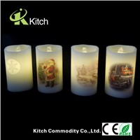 Christmas led candle fountain
