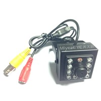 700TVL Night Vision Mini Camera IR 940nm,10pcs Invisible Light IR Leds,3.7mm Flat Cone Pinhole Lens.
