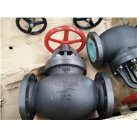 F7375 JIS marine cast iron screw down check globe valves 10K