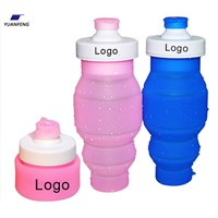 2016  BPA Free Portable Collapsible Silicone Foldable Sports Water Bottle