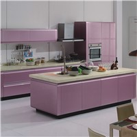Linkok Furniture High glossy European style wooden kitchen cabinets