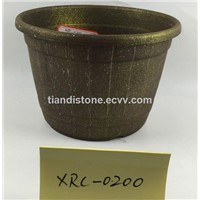 Plastic Anquite Golden Color Planter