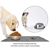 YL001 Magic Silicon Pet Mat with Sucker Dinner Mat for Dogs and Cats Bowl Never Move
