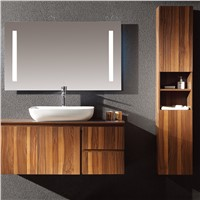 45 inch Sliver double sink Slive Mirror basin custom MDF cheap modern hotel chinese bathroom vanity