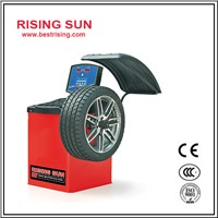Automatic used tire balancing machine with LCD display