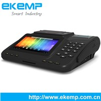 EKEMP P7 Android POS Terminal With Fingerprint Scanner and RFID System