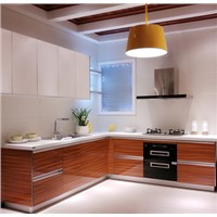 Linkok Furniture acrylic MDF kitchen cabinet with accessories in china factory