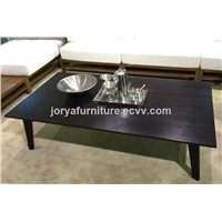Wooden Tea Table With Ash Solid Wood Leg and Oak Table-Board Coffee Table