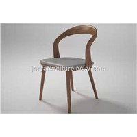 Dining Room U Chair Ash Solid Wood Dining Chair Wooden Leisure Chair