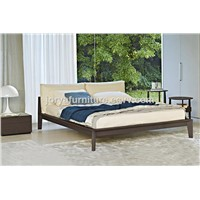 modern bedroom furniture ash solid wood bed real leather soft bed high quality fabric soft bed