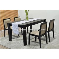Modern Ash Solid Wood Dining Table Wooden Table Rectangle Shaped Restaurant Table