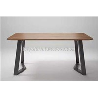 Ash Solid Wood Kitchen Table Wooden Dining Table Rectangle Dining Table