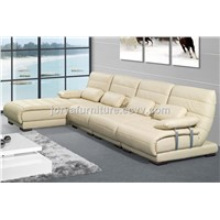 Mordern Style Leather Corner Sofa High Quality Fabric Sofa Chaise Longue l Shaped Three-Seat Sofa