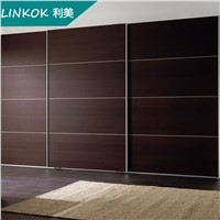 Factory made laminate bedroom sliding 3 door wardrobe designs prices