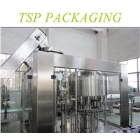PET plastic glass bottle olive/vegetable/edible 2-in-1 rotary oil filling capping packaging machine