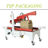 Hot sales left and right driven carton box folding and sealing machine for beverage packaging