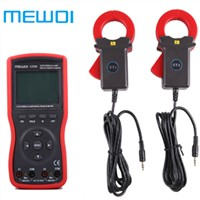 MEWOI5200B Intelligent Double Clamp Digital Phase Volt-Ampere Meter