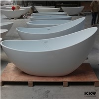 Artificial Stone Custom Size Gel Coat Resin Stone Freestanding Bathtub