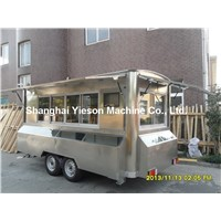 YS-FV450A Stainless Steel Mobile Food Truck with Showcase