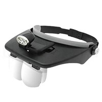 C&CHAT Adjustable head-mounted magnifier (BLACK)