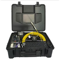 50M Waterproof Water Drain Pipe Inspection Camera With Meter Counter And Locator&Sonde
