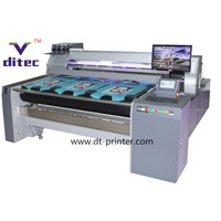 Direct digital textile belt printer for different fabrics