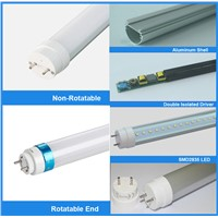Hot Sale Indoor High Lumen LED T8 Tube, 150lm/W Rotable Tube, CRI85 Low Decay LED Tube