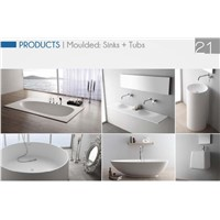 100% pure acrylic solid surface discoloration moulded OEM bathtub
