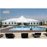 15m by 40m/ 20m by 50m wedding tent with lining, curtain, flooring and clear windows