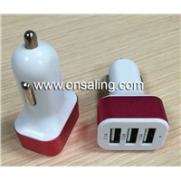 5V/5.1A Three USB in-car Charger
