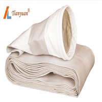 High Temperature Non Alkali Fiberglass Dust Filter Bag with Expanded PTFE for Cement Plant