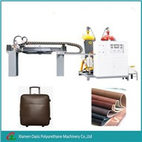 Synthetic leather coating machine