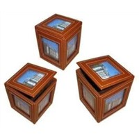 China Wooden Swivel Photo Storage Box Gift Box