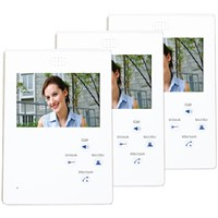 4.3'' wired color touch monitor video intercom system for buildings