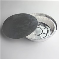 Aluminum foil food grade storage containers with lids