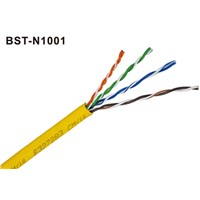 UTP Cat5e, 4pair, 24AWG, 8c Solid Bare Copper, PVC Jacket, 305m/Pull out Box Packing
