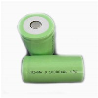 1.2V NIMH rechargeable battery D 10000mah