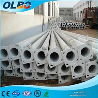 10m street lighting pole Q235 hot dip galvanize octagonal conical steel street Lighting Pole factory