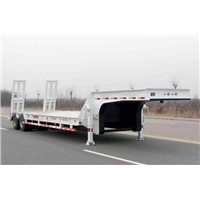 Low Price Two Axle Low Bed Semi-trailer to Egypt