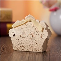 Fast delivery china wholesale wedding candy gift box laser cut wedding favor box