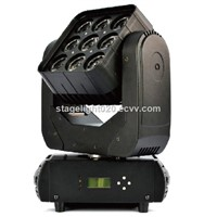9x12w RGBW Beam Wash Effect Matrix Moving Head China LED Light