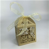 Bird Couple Laser Cut Candy Boxes Casamento Wedding Favors And Gifts Box