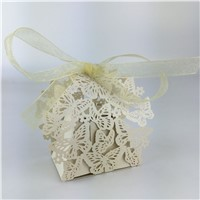 Personalized laser cut wedding souvenirs wedding gifts bags for guests wedding favor boxes