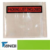 panel print clear PP packing list enclosed document pouch