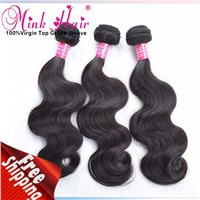 Mink hair weave 100% human hair Mink Wavy virgin hair bundle mink brazilian Hair body wave