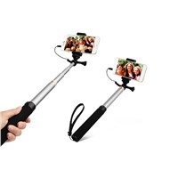 New Extendable Aluminum Wired Selfie Sticks in one Shooting monopod for mobile phones (FWS018)