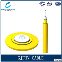 High quality Indoor 2 Core GJFJV LSZH Duplex Fiber Optical Cable